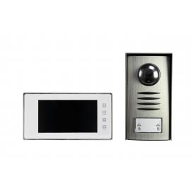 Sygonix SY-3313340 Videó kaputelefon Vezetékes Komplett készlet Ezüst