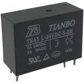 Tianbo Electronics TRA3 L-24VDC-S-2H Nyák relé 24 V/DC 8 A 2 záró 1 db