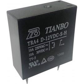 Tianbo Electronics TRA4 D-12VDC-S-H Nyák relé 12 V/DC 10 A 1 záró 1 db