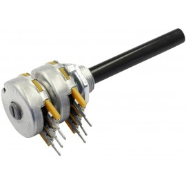 OMEG Forgató potenciométer Sztereo 0.4 W 10 kΩ 1 db