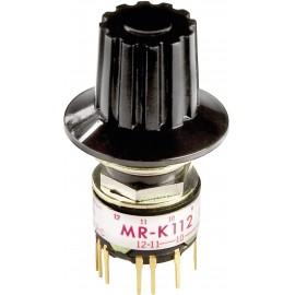 NKK Switches MRK112-A Forgó kapcsoló 125 V/AC 0.25 A Kapcsolási pozíciók 12 1 x 30 ° 1 db