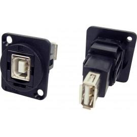 XLR adapter USB 2.0 B aljzat és USB 2.0 A aljzat Adapter, beépíthető CP30207N Cliff Tartalom: 1 db