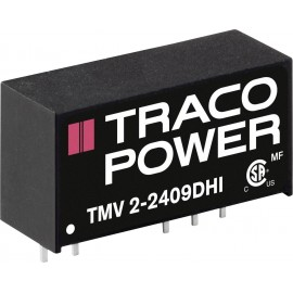 TracoPower TMV 2-2409DHI DC/DC feszültségváltó, nyák 24 V/DC 9 V/DC, -9 V/DC 112 mA 2 W Kimenetek sz