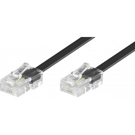 ISDN Csatlakozókábel [1x RJ45 dugó, 8p4c - 1x RJ45 dugó, 8p4c] 10.00 m Fekete Basetech