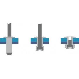 Popszegecs (Ø x H) 3.2 mm x 15 mm Acél Alumínium Bralo S1010003215 50 db