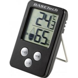 Basetech Hőmérséklet- és légnedvesség mérő Fekete