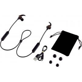 Renkforce RF-WH-150 Bluetooth® Sport In Ear sztereo headset In Ear Nyakpánt Fekete, Barna 4. kép