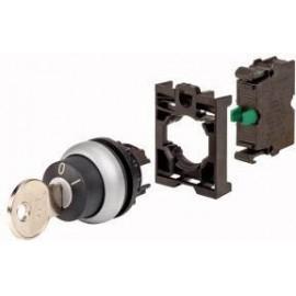 Kulcsos kapcsoló Műanyag előlapi gyűrű Kulcs Fekete Eaton M22-WRS-K10-BVP 1 db