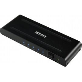 SpeaKa Professional SP-HDS-240 4 port HDMI elosztó Ultra HD-re alkalmas 3840 x 2160 pixel Fekete