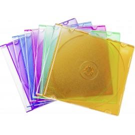 Basetech CD tok 1 CD/DVD/Blu-Ray Műanyag Kék, Normál zöld (selyemmatt), Narancs, Rózsaszín, Purpur 1