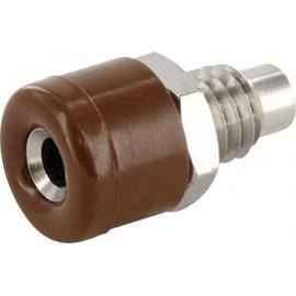 econ connect HOBBR Labor csatlakozóaljzat Alj, beépíthető, függőleges Tű átmérő: 2.6 mm Barna 1 db