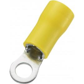 Gyűrüs kábelsaru 4 - 6 mm², sárga, 50 db, Tru Components 1566744