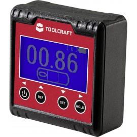 TOOLCRAFT TO-6547356 Digitális szögmérő Kalibrált (ISO) 360 °