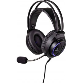 Renkforce RF-GHD-200 Headset játékhoz 3,5 mm-es jack Vezetékes Over Ear Fekete