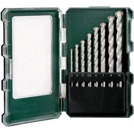 Metabo 626706000 Kő spirálfúró készlet 8 részes 3 mm, 4 mm, 5 mm, 5.5 mm, 6 mm, 7 mm, 8 mm, 10 mm 8