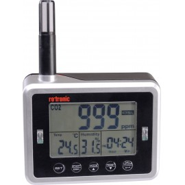 Hőmérséklet és páratartalommérő adatgyűjtő, széndioxid CO2 levegőminőség mérő rotronic CL11
