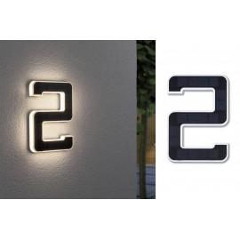 Paulmann 79843 Napelemes házszám megvilágítás 0.20 W Fekete