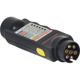 Világításvizsgáló a pótkocsi foglalatához és csatlakozójához 12 V DINO 130081