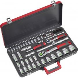 Dugókulcs készlet 1/4 (6,3 mm), 1/2 (12,5 mm) 64 részes Meister Werkzeuge WU8429300