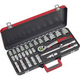 Dugókulcs készlet 1/2 (12,5 mm) 28 részes Meister Werkzeuge WU8429100