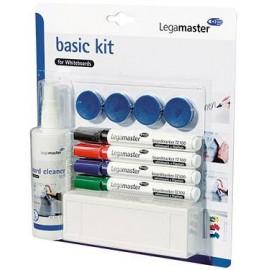 Legamaster 7-125100 basic Kit for Whiteboards Táblafilc Fekete, Kék, Piros, Zöld Táblatörlővel, tisz