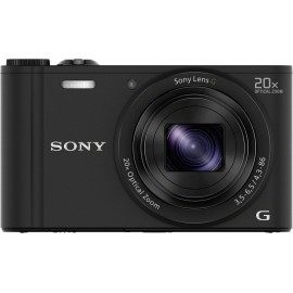 Sony Cyber-Shot DSC-WX350B Digitális kamera 18.2 Megapixel Optikai zoom: 20 x Fekete Full HD video,