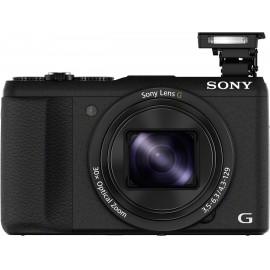 Sony DSC-HX60B Digitális kamera 20.4 Megapixel Optikai zoom: 30 x Fekete Full HD video, WiFi, Vakupa