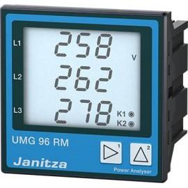 Janitza UMG96RM-E 6 csatornás UMG96RM-E hálózati analizátor, Ethernet, RCM méréssel