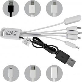 Eaxus 5in1 USB 2.0 töltőkábel mini, mikro USB csatlakozóval, C típus, 8 tűs, csatlakozóval