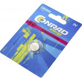 Conrad energy CR1632 Gombelem CR 1632 Lítium 130 mAh 3 V 1 db