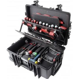 Wiha Case Industrial XXL 93007111 Kézműves Szerszámkészlet görgőkkel, portömör, kihúzható fogantyú 1