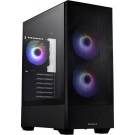 Lian Li LANCOOL 205 Mesh Midi torony Gaming doboz, Ház Fekete 3 előre telepített LED-hűtő, Oldalsó s