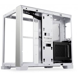 Lian Li O11 Dynamic Mini Snow Edition Midi torony Gaming doboz, Ház Fehér Oldalsó szélvédő