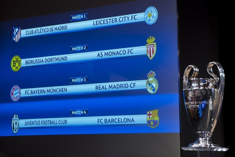 Los cruces de cuartos de la Champions: Barcelona-Juventus y Bayern ...