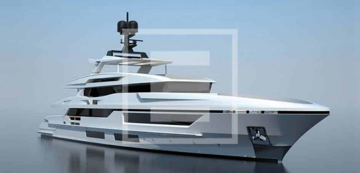The Baglietto 48m yacht is being styled by Florentine architect Francesco Paszkowski
