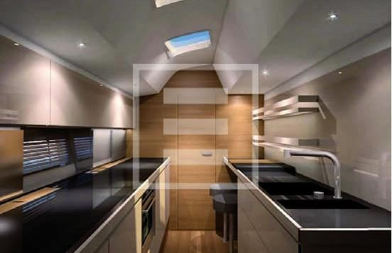 The interiors of the Mylius 76DS yacht