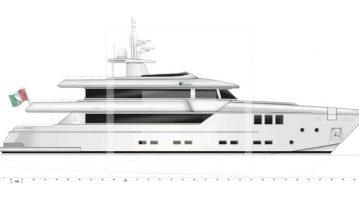 The Otam SD35 is Otam's first full-custom aluminium semi-displacement yacht