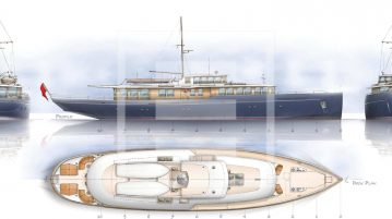 The Spirit Royale yacht is designed principally for charter use in the Mediterranean
