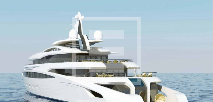 The A470 yacht from the A Group