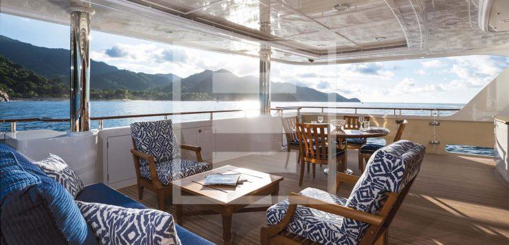 The Onika Delta Marine yacht. English Edwardian styling and colonial feeling.