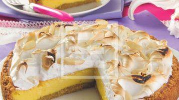 Cheesecake Meraviglia con meringa e limone. Ricetta illustrata