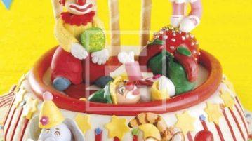 Cake 3d con circo e pagliacci: perfetta per un compleanno coloratissimo!