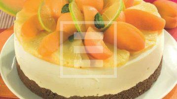 Cheesecake con pesche, albicocche e arancia... ricetta che profuma d'estate!