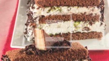 ricetta della Meraviglia al cioccolato fondente, pistacchio e mascarpone