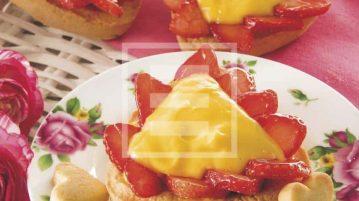 crostatine san valentino crema e fragole ricetta