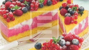Torta superfresca con frutti di bosco e ricotta