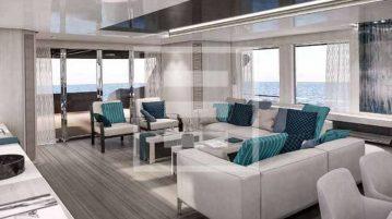Una vista degli interni del 38 metri Nina per Heesen Yachts