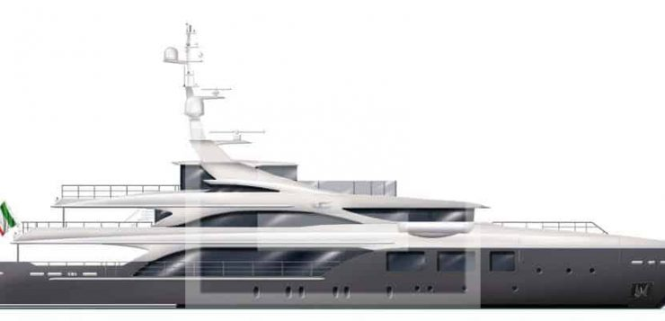 Materiali diversi e preziosi per il nuovo 57 metri firmato da Luca Dini per Benetti