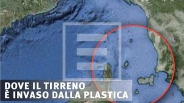 Tirreno mare plastica
