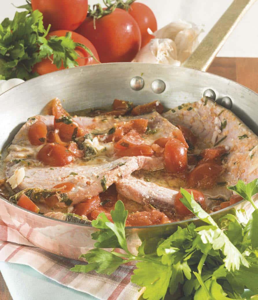 Pesce Spada Allacqua Pazza Con Pomodorini E Acciughe Magpedia